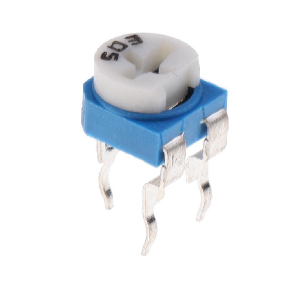 100Pcs 50K 503 Adjustable Horizontal Cermet Potentiometer Variable Resistors Kit