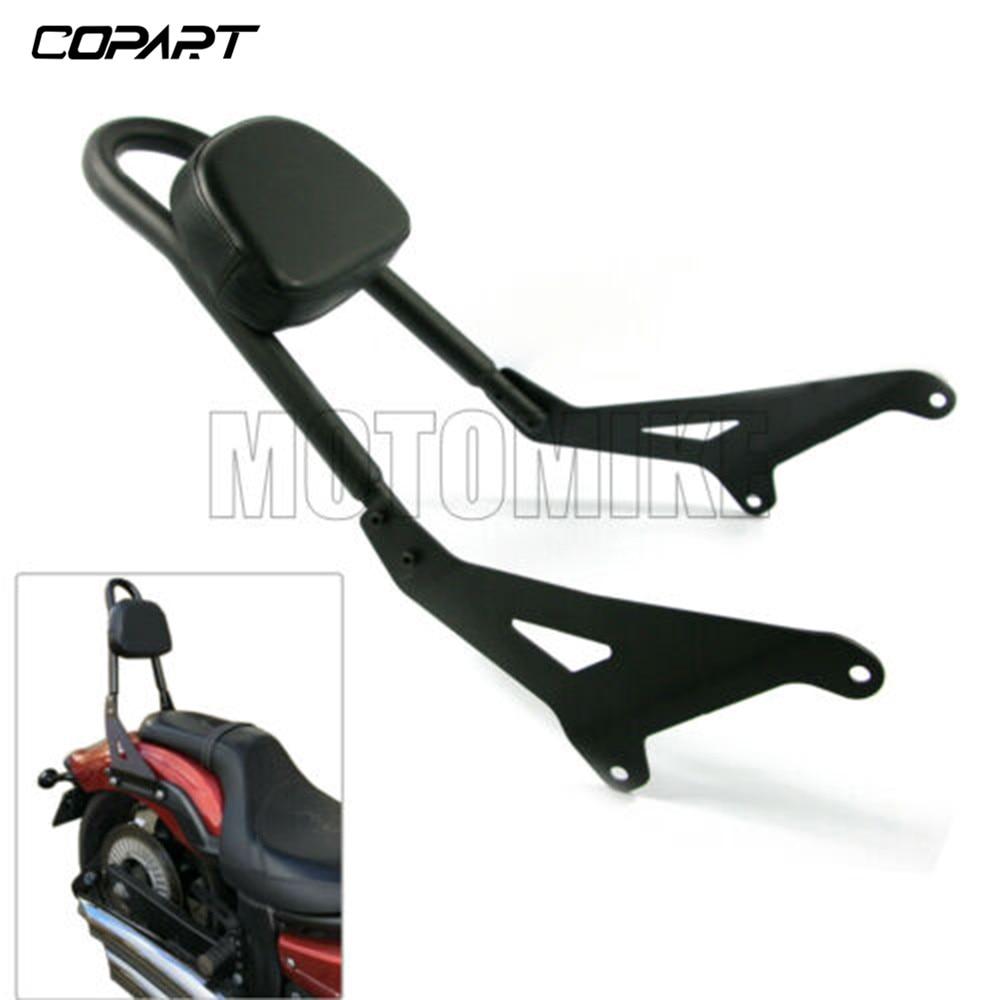 Black Affordable Luggage Rack Sissy Bar Rear Passenger Backrest Cushion Pad Motorcycle For Yamaha Stryker XVS1300 XVS 1300