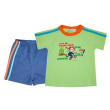 Zestawy ubrań dla niemowląt Honeyzone 0-24M letnie ubrania dla niemowląt chłopców niemowląt bawełniane chłopcy topy t-shirt + spodnie stroje zestaw ubrań dla dzieci tanie tanio COTTON Poliester Włókno bambusowe Modalne Linen O-neck Swetry Krótki Cartoon REGULAR Boys baby Pasuje prawda na wymiar weź swój normalny rozmiar