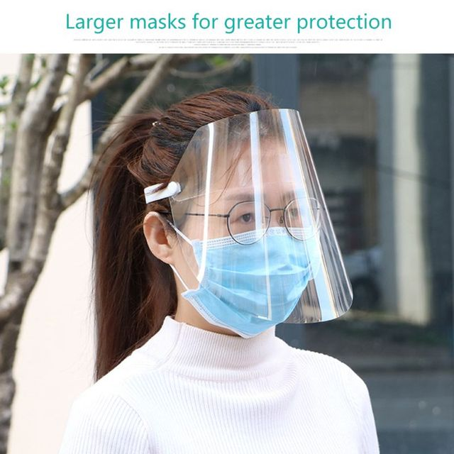 Dust-proof Portable light Transparent Anti-saliva Protect Full Face Covering Mask Visor Shield Protection Masks 2