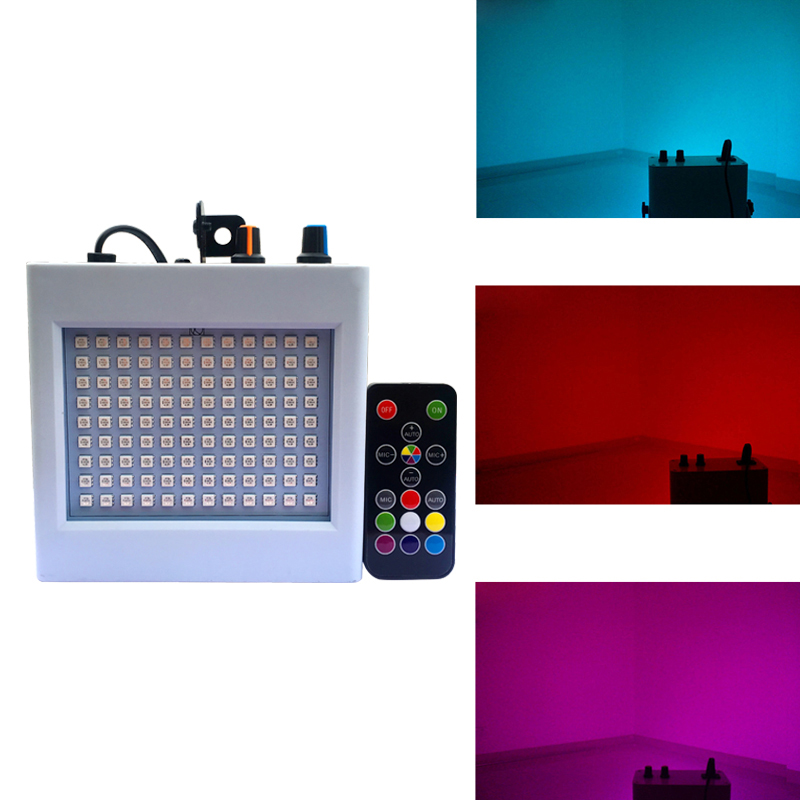WUZSTAR 108 LED Party-Lights Disco-DJ Strobe Activated-Rotating Christmas Sound Wedding-Show Home-KTV
