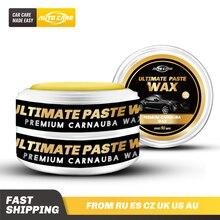 Netto 280g Premium Carnauba wosk samochodowy kryształ twardy wosk do pielęgnacji lakieru usuwanie zarysowań konserwacja wosk farba powłoka zabezpieczająca wolna gąbka