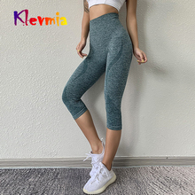 Running Tights Woman Sports Fitness Yoga Pants Workout Gym Leggings Sport Women Fitness Seamless Sport Leggings Capris 3/4 Pants 2019 women s new 3 4 fitness leggings yoga pants gym leggings sports running women tights sports fitness gym yoga pants