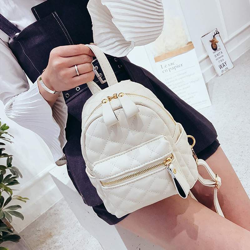 Women Backpacks For Teenage Girl Schoolbag Backpack Fashion Mini  PU Leather Backpacks New Preppy School Style Rucksack Mochila