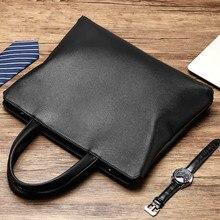 Maletín portátil de cuero genuino para hombre, maletín de documentos de hombro, para negocios y oficina, DB60BA