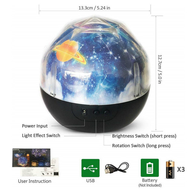 Galaxy projector Night Light Starry Sky Planet Magic home planetarium Universe LED Colorful Rotate Flashing Star kids lamp gift 5