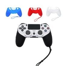 Резиновый чехол-накладка для контроллера, силиконовый чехол для playstation 4 PS4 Pro, тонкий мягкий силиконовый нескользящий чехол-накладка