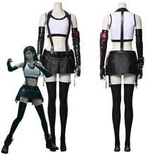 Final fantasy vii remake tifa lockhart cosplay traje adulto feminino meninas halloween carnaval trajes