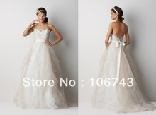 free shipping2016 new style best  seiier Sexy bride wedding Custom size lace sweetheart empire backless bridal dress