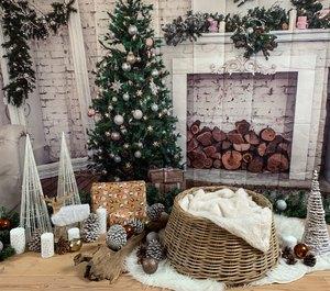 Image 5 - Yeele Brick Wall Christmas Holidays Tree Firewood Baby Photography Background Customized Photographic Backdrops for Photo Studio