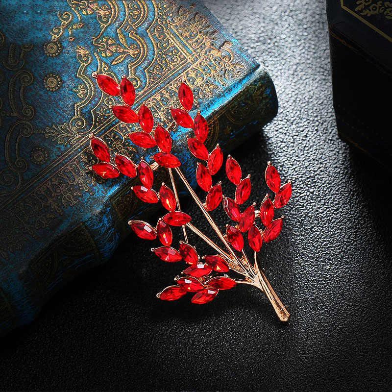 Jojewel trigo orelha flor broches de cristal bouquet 2020 nova feminino broche pino jóias acessórios presente broche flores
