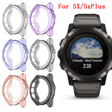 Soft Ultra Slim Crystal Clear TPU Protector Case Cover For Garmin Fenix 5X Smart watch Protective accessories For Fenix 5 X #817