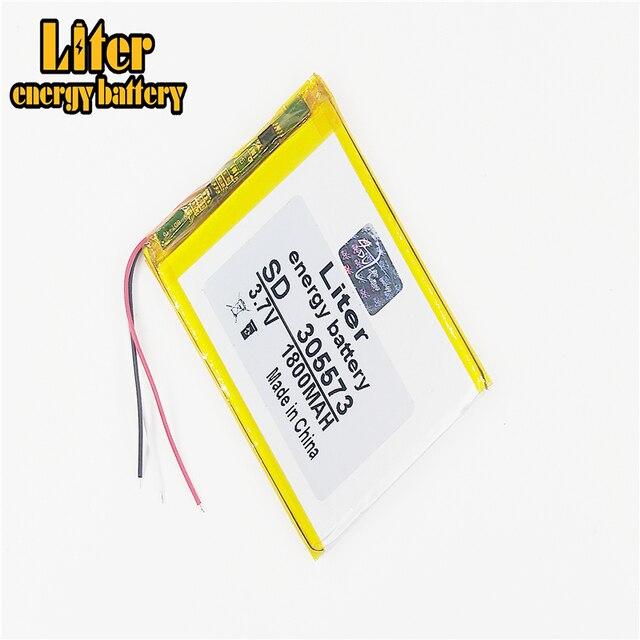 3 קו ליטר אנרגיה סוללה 305573 3.7V 1800mah 305570 305575 PLIB ליתיום יון/פולימר ליתיום יון סוללות ב