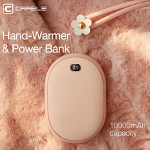 Купить с кэшбэком Cafele Hand warmers 10000mAh Mobile Power Bank for USB iPhone Samsung Xiaomi LED Universal Power Bank Charger External Battery