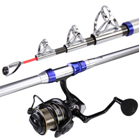 Carbon 2.1M 4.5M Spinning Fishing Rod M Power Telescopic Rock Fishing Peche Carp Feeder Canne De Pesca Wedkarstwo Olta Anchor
