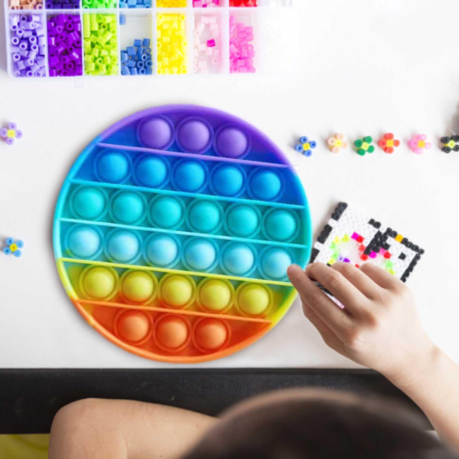 Simple Dimple Popit Fidget Toys Push Bubble Fidget Sensory Toy Autism Special Needs Stress Reliever Antistress