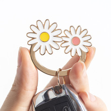 Little Daisy turnip elephant Key Chain Key Ring Bronze Rhodium Gold  Long Round Split Keychains Jewelry Making Wholesale DIY 10pcs lot 25 28 30mm gold round key ring llaveros clasp findings key chain split ring plated key ring for jewelry making