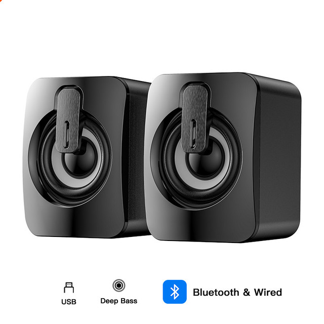 Bluetooth Wired Speakers Computer Speaker Stereo Bass Sound box Subwoofer Music Player for PC Laptop Desktop loudspeakers Column 6