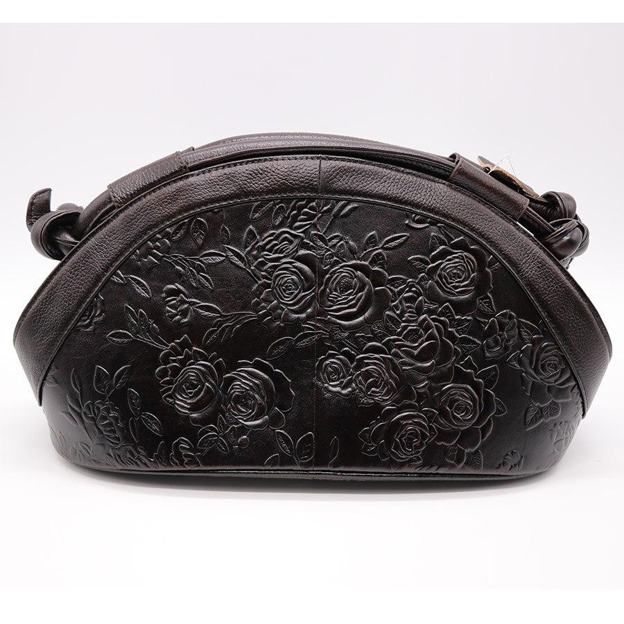 GO LUCK ยี่ห้อ Luxury Hobos ดอกไม้แกะสลักของแท้หนังผู้หญิงกระเป๋าถือสตรีไหล่กระเป๋าสุภาพสตรีกระเป๋า Messenger-ใน กระเป๋าสะพายไหล่ จาก สัมภาระและกระเป๋า บน   3