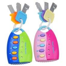 Divertido juguete de bebé Musical, llave Vocal inteligente, mando a distancia, coche, voces, juego de simulación, juguetes educativos para niños, juguetes musicales para bebés