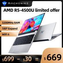 AMD Ryzen 5 4500U ordinateur portable R5 ordinateur portable 8G 3200MHz RAM 512G SSD WiFi 6 15.6 ''FHD métal Ultrabook Windows 10 180 ° étendre