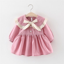 Get more info on the 2019 Fashion Toddler Baby Kids Girls Dress Fall Winter Girl Ruffles Ruched Ribbons Bow Casual Dresses