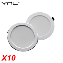 10pcs LED Downlight 7W 9W 12W 15W 18W AC 220V 240V Recessed Round Spot LED Lamp Kitchen Indoor Lighting Warm White Cold White