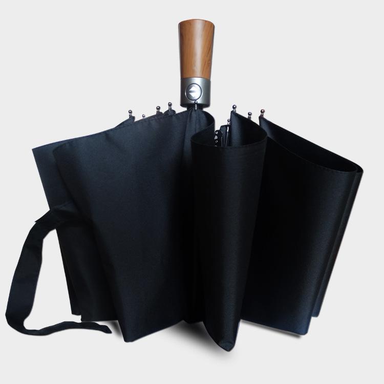 New Style Amazon Hot Selling 10 Bone Anti-Spillage Fully Automatic Umbrella Business Three-fold Umbrella Advertisement Gift Umbr