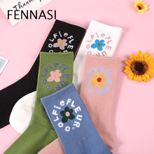 FENNASI 2019 Autumn And Winter Harajuku New Ladies Pile Socks Japanese Solid Color College Wind High Funny Woman