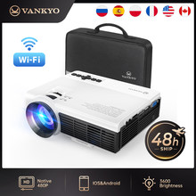 VANKYO Leisure C3WQ mini Projector Support 1920*1080P 170'' Wifi Sync Display Portable Projector for TV Stick PS4