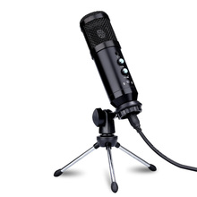 Usb-Condenser-Microphone Voice-Chat Live-Podcast BM800 Ear-Back-Monitor Video with Mute