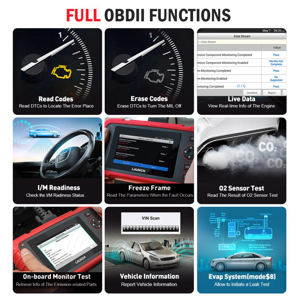 Image 3 - Launch X431 CRP123X Diagnostic Tool Auto Code Reader EOBD OBD2 Scanner Engine Transmission ABS SRS AutoVIN WIFI PK CRP123 VII+-in Engine Analyzer from Automobiles & Motorcycles