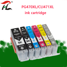 5PK PGI-470 CLI-471 Refilled Ink cartridge For Canon PGI470 CLI471 470 PIXMA MG6840 MG5740 TS5040 TS6040 Printer Compatible with Cartridge MG7740