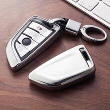 Miękka TPU obudowa kluczyka do samochodu klucz nakładka na klucz osłona ochronna dla BMW X5 F15 X6 F16 G30 serii 7 G11 X1 F48 F39 akcesoria Car Styling