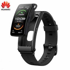 Yeni Huawei band B6 Talkband B6 Bluetooth akıllı bilezik giyilebilir spor bilekliği dokunmatik AMOLED ekran çağrı kulaklık bandı