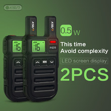 2PCS Mini FRS Walkie Talkie PMR446 Radio VOX Handsfree Two Way Radio with Vibration Wireless Cloning(China)