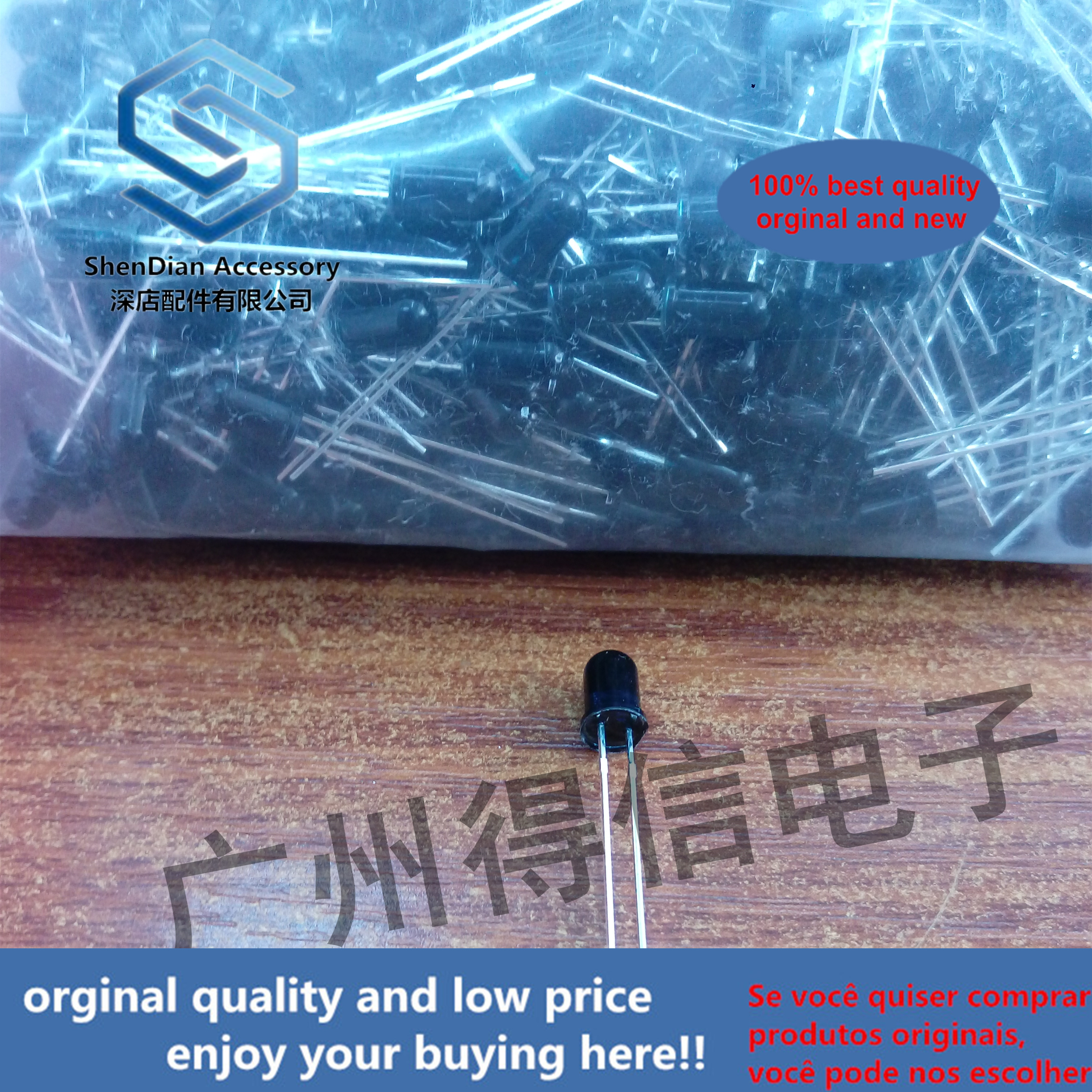 30pcs 100% Orginal New  Black F5 940nm Infrared Receiver Tube Diameter 5MM Photodiode LED New Long Foot  Real Photo