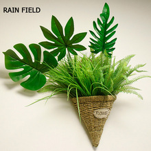 Artificial Monstera Plants silk Fake Leaves Home Garden Decoration Accessories Photography Decorative