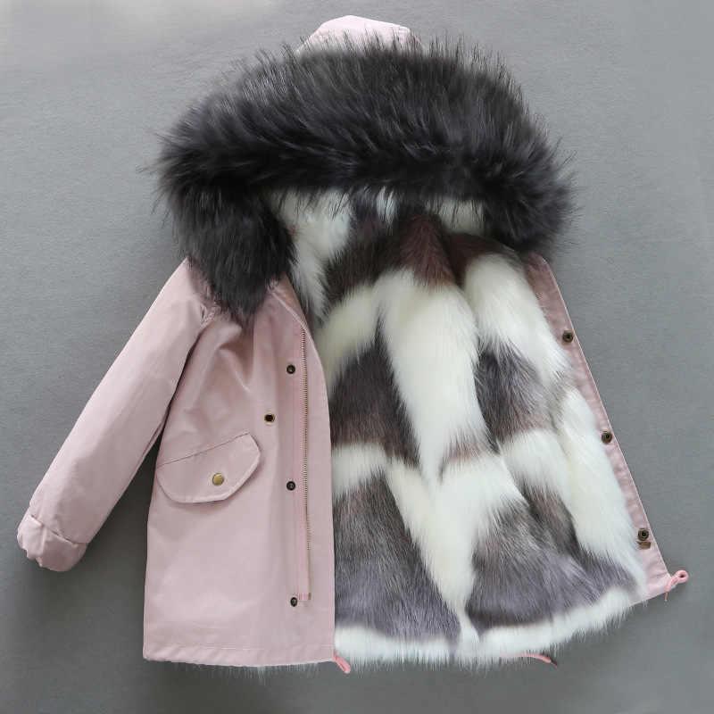 -30 องศาสาวฤดูหนาวเสื้อขนสัตว์หนาBoys Coats Hoodedวัยรุ่นเด็กOutwear Parka 2020 Unisex Windbreakerเสื้อผ้า