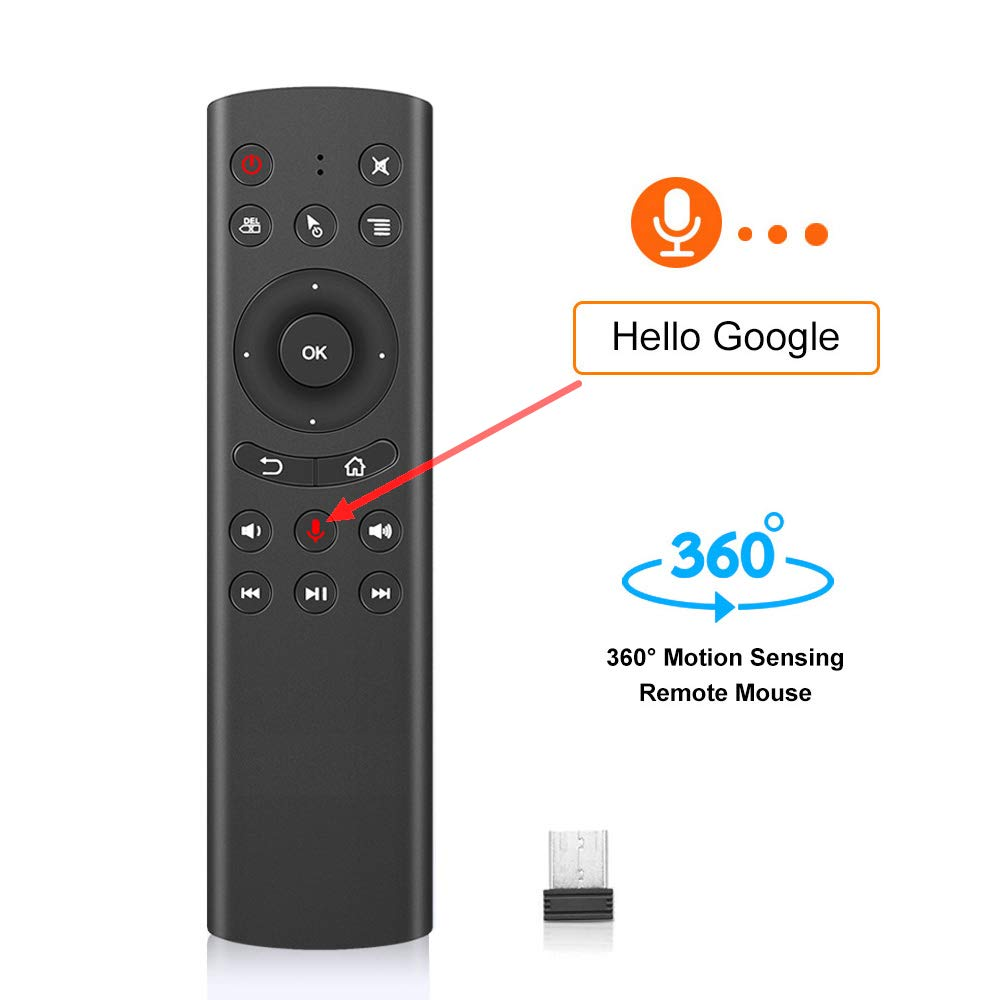 g20s 2.4GHZ fly Air Mouse airmouse 6-axis Gyroscope Google voice Remote Control For xiaomi mi box 3 s htv box 5 Samsung LG TV