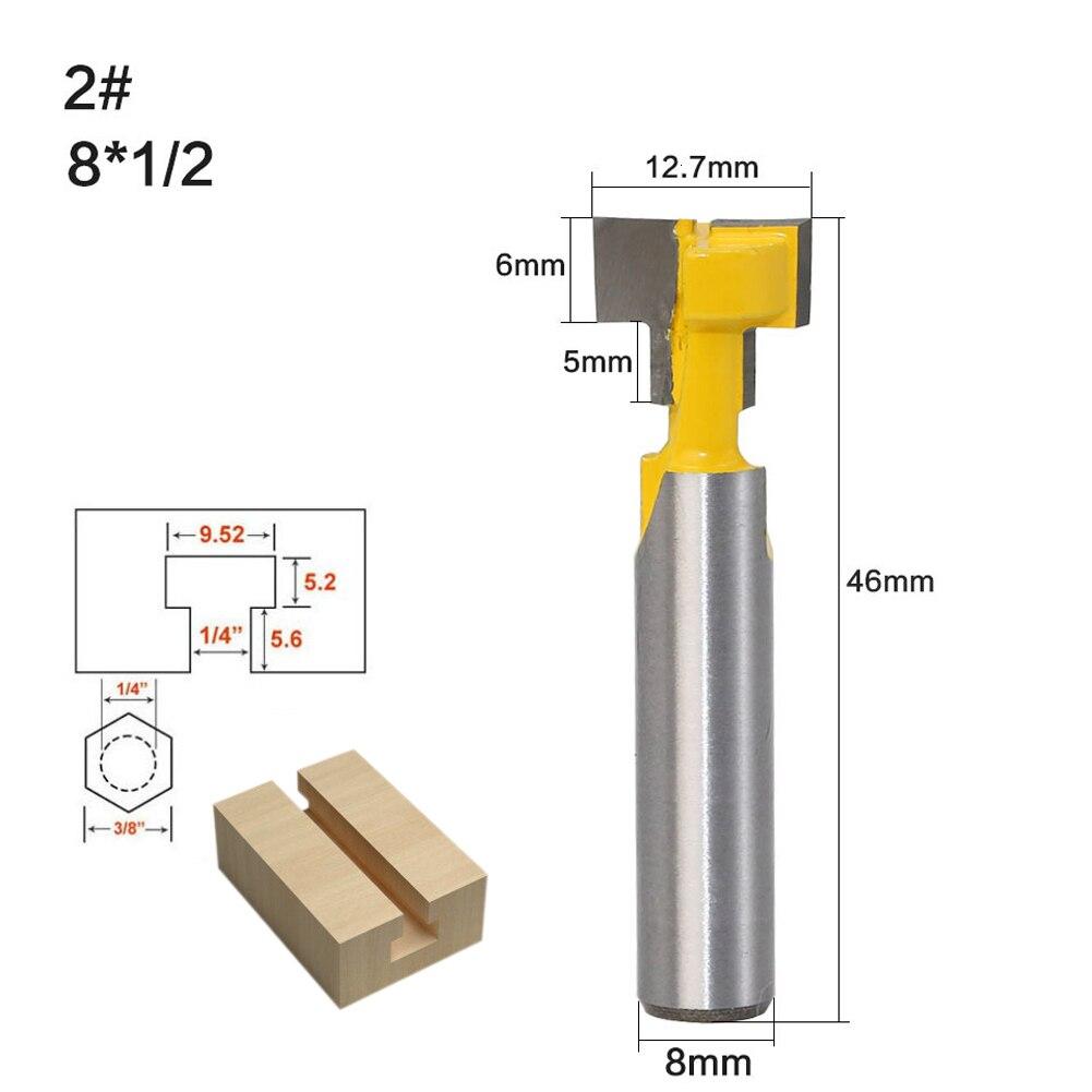 8 мм хвостовик Т-слот резак для замков фреза для дерева резак для дерева t-трековая фрезерная фреза по дереву фрезерные инструменты