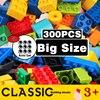 Bloques de construcción de gran tamaño para niños, coloridos, Base de ladrillos, placas, DIY, bloques de construcción, compatibles con Duploe, bloques, Juguetes