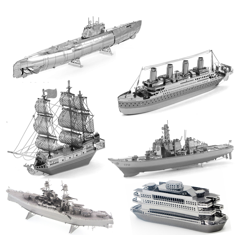 Boat Models 3D Metal Puzzle Model Kits Mayflower Warships DIY Assemble Jigsaw Puzzle Toys Desktop Decor Gifts For Adult Children