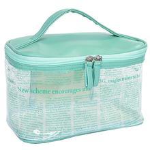Makeup-Bag Zipper-Pouch Clear Transparent Toiletry-Bag Top-Handle Travel Waterproof 1pc