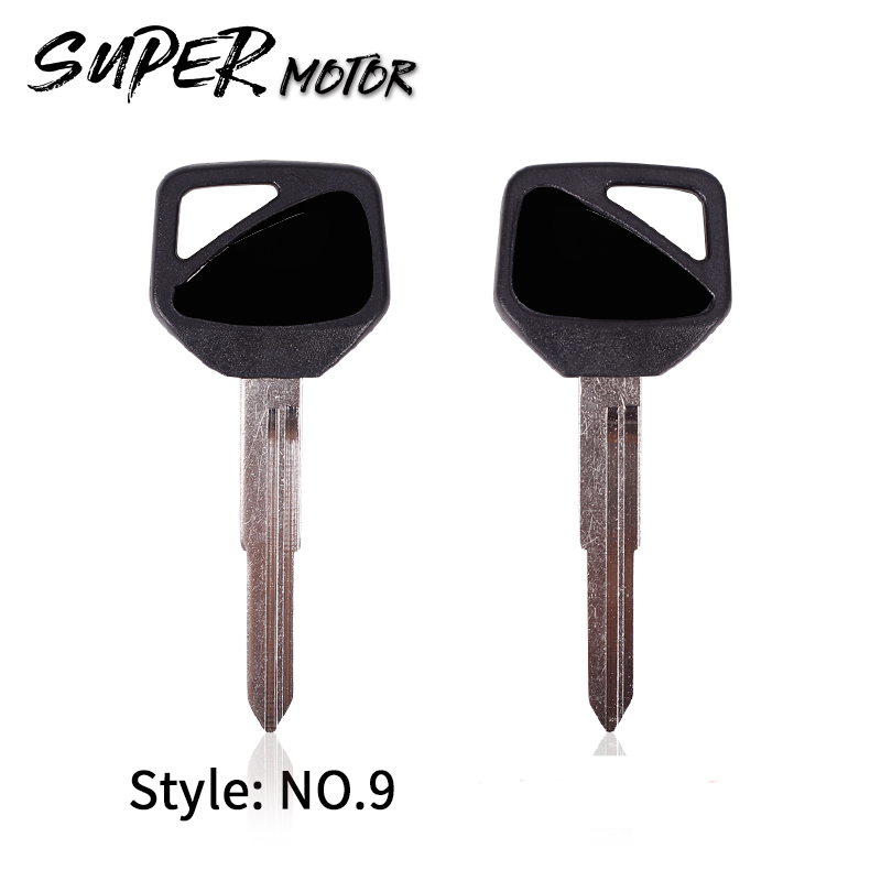 NEW Black Blank Key Embryo Uncut For HONDA CB400 VTEC Vtec400 CB600 CB1000 Motorcycle Keys Free Shipping