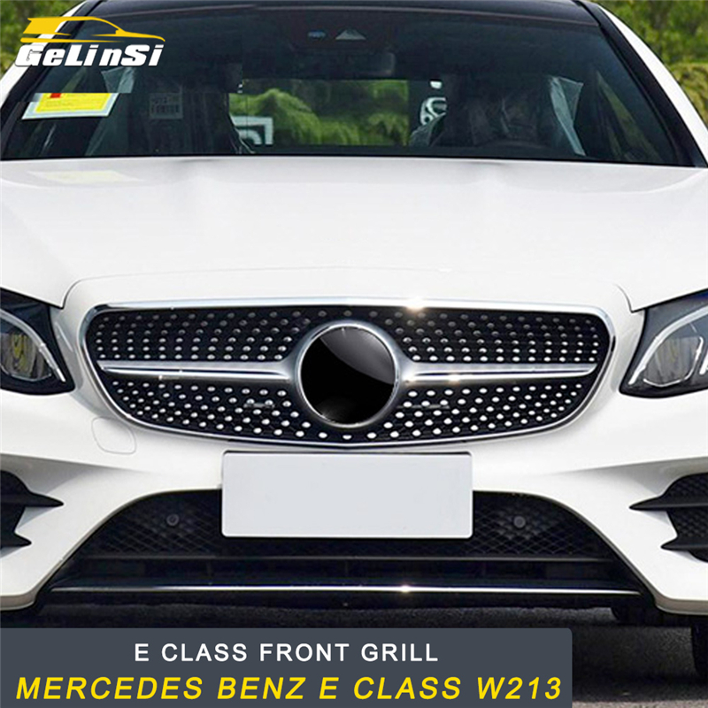 GELINSI For Mercedes Benz E Class W213 2017 2019 Car Front Hood Grille Grills Assembly Frame Auto Replacement Exterior Parts|Racing Grills| |  - title=