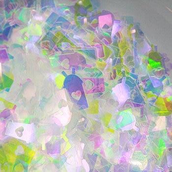10g Iridescent Boba Tea Cup Glitters DIY UV Resin Jewelry Decor Slime Craft Stuff Milk Drink Cups Sparkle Nail Art Accessoires