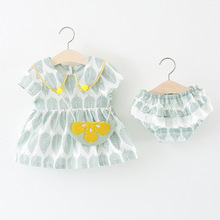 Kaguster 8M-3Y baby Girls dress Toddler girl dresses kids clothes girls summer set infantil beach outfit sets