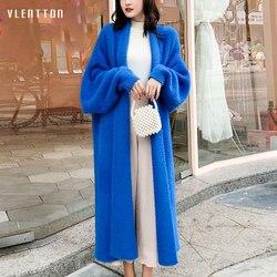 2019 Herfst Winter Zachte Wol Gebreide Lange Trui Vrouwen Mode Casual Losse Oversized Dikke Warme Vest Jas Vrouwelijke Uitloper