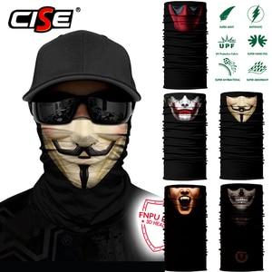 Image 1 - 3D Seamless Clown Joker Deadpool Balaclava Magic Warmer Motorcycle Breathable Mask Neck Gaiter Durag Headband Bandana Scarf
